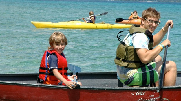 Canoeing-on-Grand-Traverse-Bay